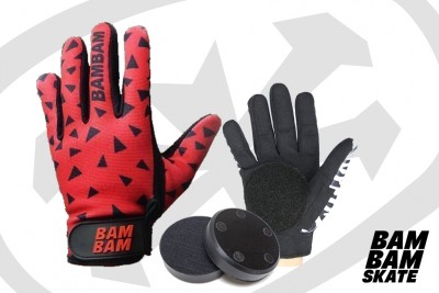 Gants de slide ET FIRE PUCKS - BAM BAM ROUGE