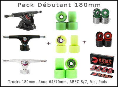 Pack - Trucks Paris 180mm - ABEC11 Zigzag 80a -